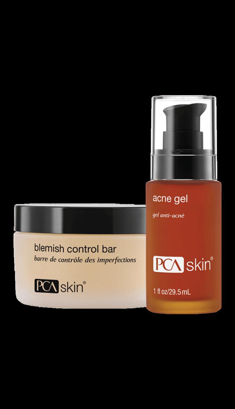 Blemish Control Bar (jar); Acne Gel (1 fl oz/29.5mL bottle)
