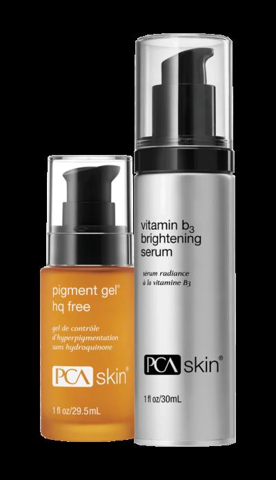 Pigment Gel® HQ Free (1 fl oz/29.5mL bottle); Vitamin B3 Brightening Serum (1 fl oz/30mL bottle)