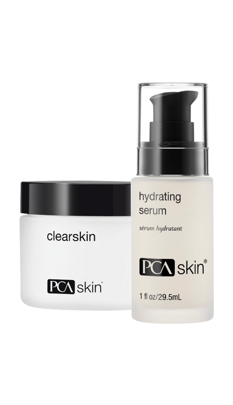 Clearskin (jar); Hydrating Serum (1 fl oz/29.5mL bottle)